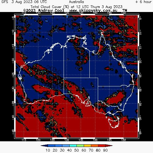 Australia Map Weather.Skippysky Astronomy Weather Forecast Australia